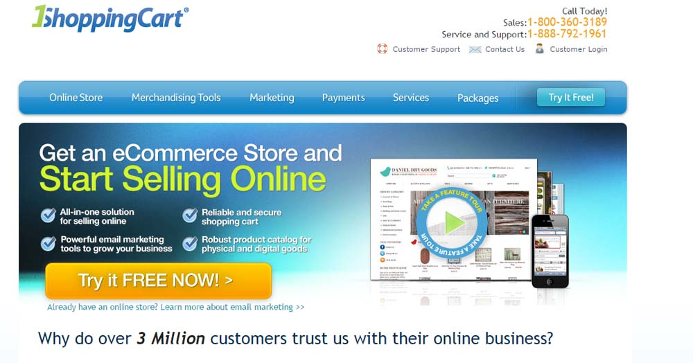 1ShoppingCart Hosted E-commerce Platform