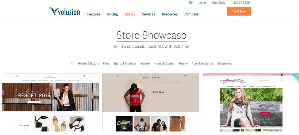 Volusion Hosted E-commerce Platform